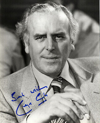 """George Cole as """" Arthur Daley in Minder """" - Hand Signed B & W Photograph."""