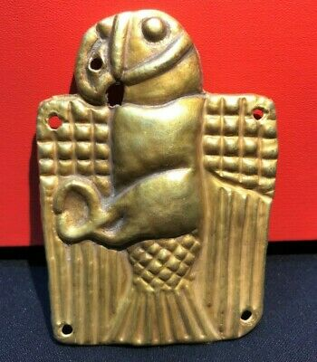 A beautiful ancient Gold pendant with the Eagle carved on it