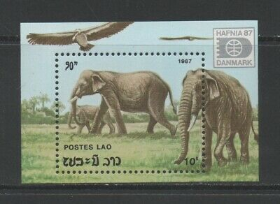 Thematic Stamps Animals - LAOS 1987 ELEPHANTS MS1019 mint