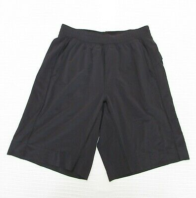 Lululemon Mens Size S Black Stretch ActiveWear Pull On Elastic Drawstring Shorts