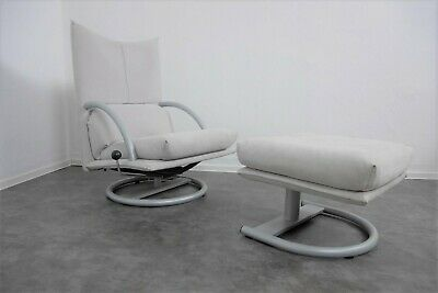 Rolf BenzLounge-Sessel mit Hocker, Relaxsessel Loungesessel