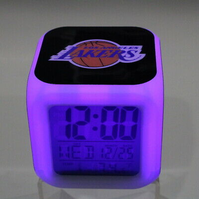 LOS ANGELES LAKERS LA LED Digital Alarm Clock Watch Lamp Gift Kobe Bryant