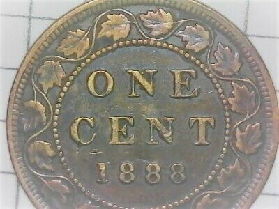 1888 Canadian Queen Victoria Large Penny