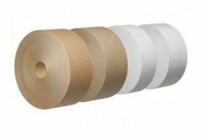 CLAIREFONTAINE BROWN white GUMMED PAPER TAPE 40MM X 200M PICTURE FRAMING CANVAS