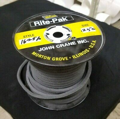 John Crane Rite-Pak Rope Packing Size: 0.250 Style: 1625A, 3.68 lbs., 1/4""