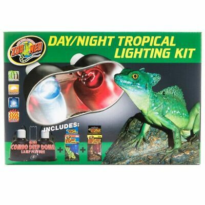 LM Zoo Med Day & Night Tropical Lighting Kit Lighting Combo Pack