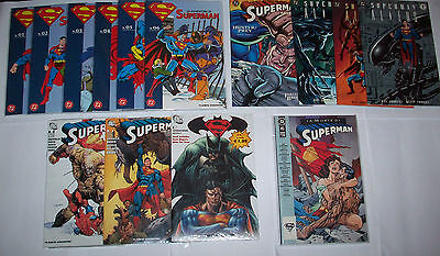 Superman 14 Albi / Aliens+Doomsday/Play Blisterati /Planeta+Batman Dc Edicola