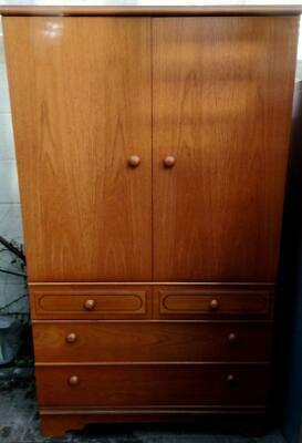 Vintage Teak MEREDEW Tallboy Chest wardrobe