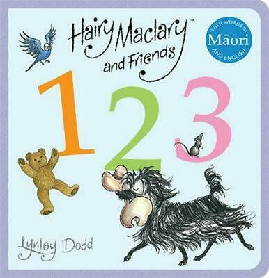 Hairy Maclary and Friends: 123 in Maori and English by Lynley Dodd Board Books B