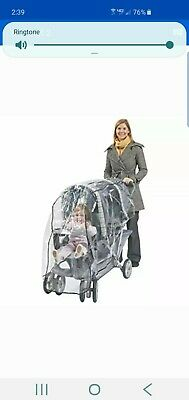 Comfy Baby Cozy Baby Limo Tandem Rain Cover Weather Shield Twin Stroller