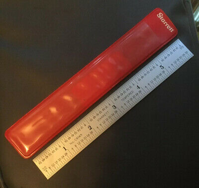 "STARRETT C604R-6"" Steel Rule Spring Tempered 4R Grad Machinist Tool Room Find"