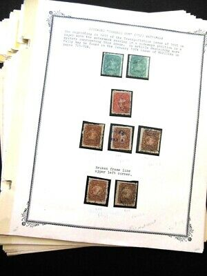 EDW1949SELL : MEXICO An Amazing 24 pages Old Time Exhibit collection of 1895-98