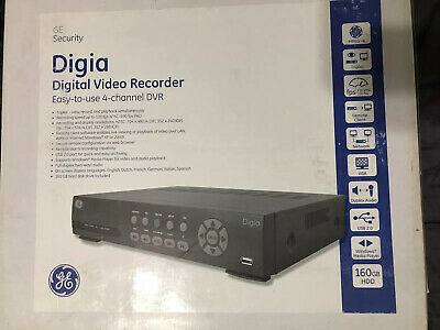 Ge Security Digia Digi -4-160 4 Channel Video Recorder