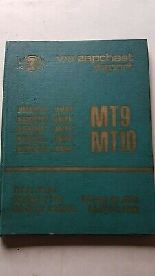 DNEPR 650 MT 9 - MT 10 1973 Catalogo Ricambi Originale Spare Parts Catalogue