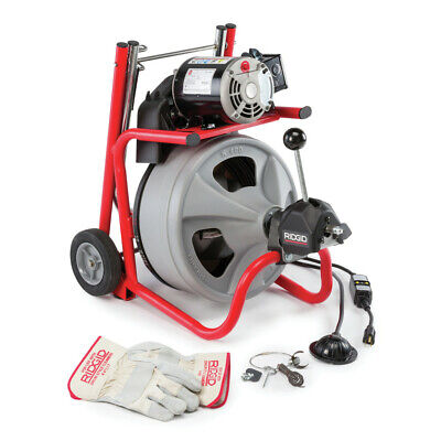 "Ridgid K-400 w/C-32 IW 3/8"" x 75' Wheeled Drum Machine 52363 NEW"