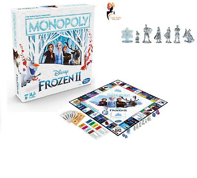 FROZEN 2 MONOPOLY BOARD GAME Kids Family Fun Christmas Stocking Gift NDE5066 UK