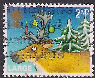 GB 2012 QE2 2nd Class Christmas Large Letter used stamp SG 3417  ( F1021 )