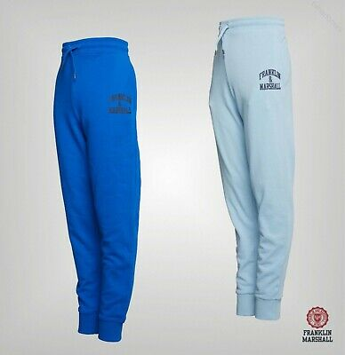 Boys Franklin And Marshall Brushback Fleece Joggers Sizes Age from 7 to 16 Yrs