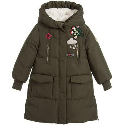 Ermanno Scervino Kids Girls Embroidered Padded Coat 4 Years