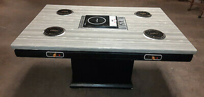 """WEILIN 54"""" Commercial Quartz Stone Marble Tabletop 4 Burner Induction HotPot BBQ"""