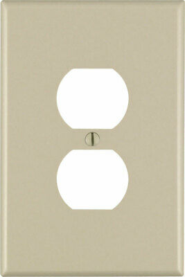 Leviton  Ivory  1 gang Nylon  Duplex Outlet  Wall Plate  - Case Pack of 100