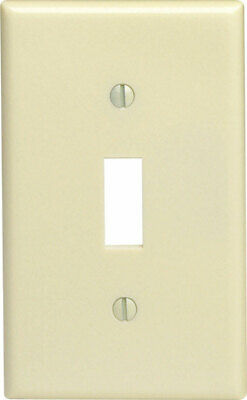 Leviton  Ivory  1 gang Plastic  Toggle  Wall Plate  - Case Pack of 200