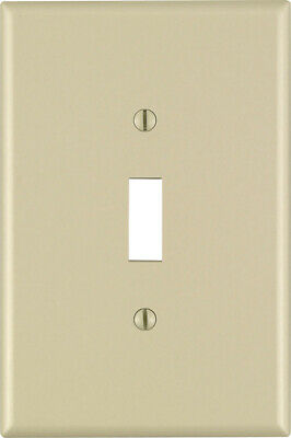 Leviton  Ivory  1 gang Nylon  Toggle  Wall Plate  - Case Pack of 100