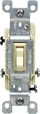 Leviton  15 amps Toggle  Switch  Ivory  - Case Pack of 100