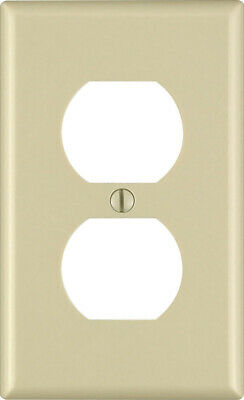 Leviton  Ivory  1 gang Plastic  Duplex Outlet  Wall Plate  10 pk - Case of 16
