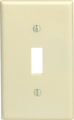 Leviton  Ivory  1 gang Plastic  Toggle  Wall Plate  10 pk - Case Pack of 16