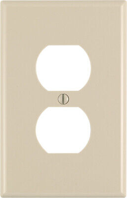 Leviton  Midway  Ivory  1 gang Nylon  Duplex Outlet  Wall Plate  - Case of 200