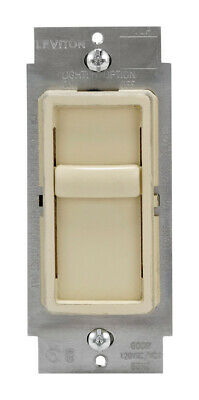 Leviton  SureSlide  Ivory  150 watts Slide  Dimmer Switch  - Case Pack of 3