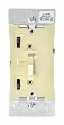 Leviton  Ivory  600W-120VAC incandescent  Toggle  Dimmer Switch  - Case of 5
