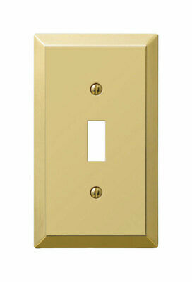 Amerelle Century Aged Bronze 1 gang Stamped Steel Toggle Wall Plate - Case of 6