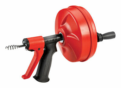 Ridgid  Power Spin+  25 ft. L Pistol Grip Drum Auger