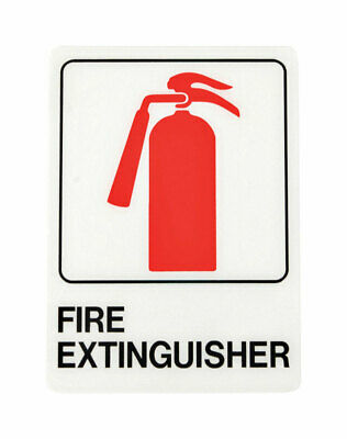 Hy-Ko  English  Fire Extinguisher  Sign  Plastic  7 in. H x 5 in. W - Pack of 5