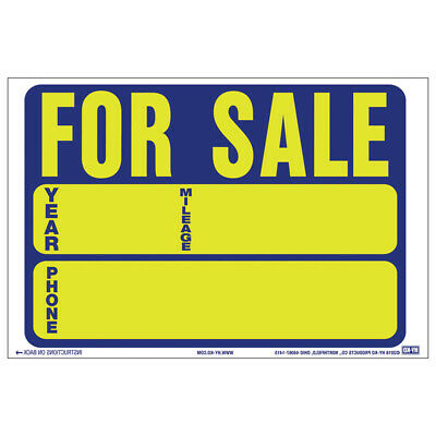 Hy-Ko  English  For Sale  Static Cling Sign  Vinyl  9 in. H x 12 in. W