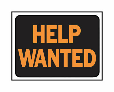 Hy-Ko  English  Help Wanted  Sign  Plastic  9 in. H x 12 in. W - Case Pack of 10