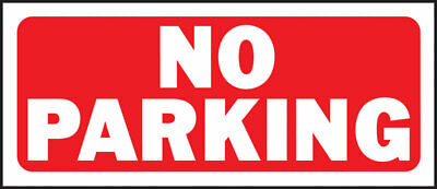 Hy-Ko  English  No Parking  Sign  Plastic  6 in. H x 14 in. W - Case Pack of 5
