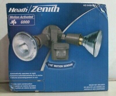 HEATH ZENITH Motion Sensing Floodlight Bronze 3400 Sq Ft HZI-5408-BZ 4-Pack NEW