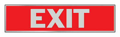 Hy-Ko  English  Exit  Sign  Aluminum  2 in. H x 8 in. W - Pack of 10