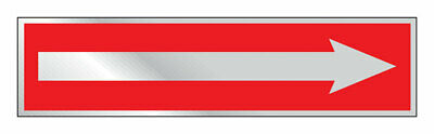 Hy-Ko  English  Arrow  Sign  Aluminum  2 in. H x 8 in. W - Pack of 10