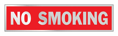 Hy-Ko  English  No Smoking  Sign  Aluminum  2 in. H x 8 in. W - Pack of 10
