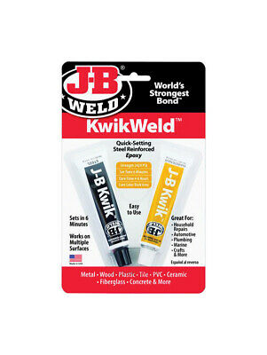 J-B Weld Kwik Weld High Strength Solid Automotive Adhesive 1 oz. - Pack of 6