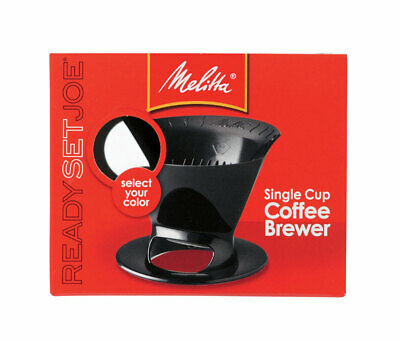 Melitta  Ready Set Joe  1 cups Black  Pour-Over Coffee Brewer - Case Pack of 8