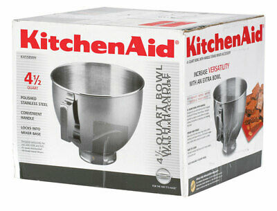 KitchenAid  4.5  Stainless Steel  Stand Mixer Mixing Bowl