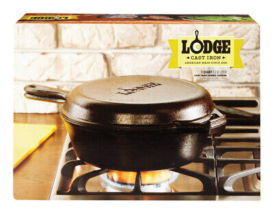 Lodge  Logic  Cast Iron  Skillet Set  10 in. 3.2 qt. Black
