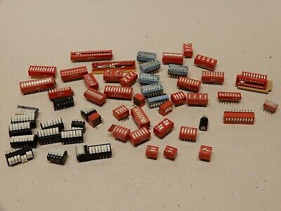 Huge Lot PCB Mount DIP Switches All Sorts and Kinds - Some Bent Pins