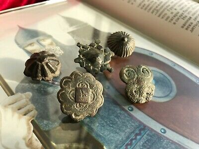 5 harness plaques bronze Kievska Rus Vikings 9 -11 century griffin eye snowflake