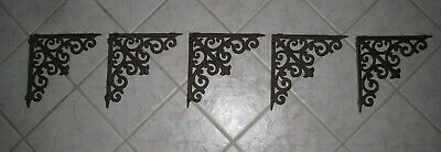 8= Antique Ornate Cast Iron Porch Corner Brackets Architectural Salvage 8""